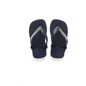 havaianas Brasil Logo II Chaussures Enfant, navy blue/citrus yellow